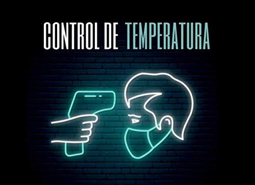 CONTROL DE TEMPERATURA: CUADERNO DE REGISTRO. Lleve un seguimiento de las mediciones de temperatura de sus empleados | Acceso seguro a su empresa o negocio | Hasta 1000 registros.
