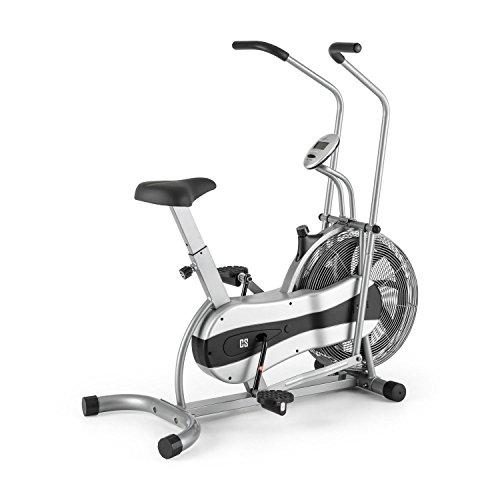 Capital Sports Stormstrike 2k Cyclette Crosstrainer Ciclo Ergometro Bici da camera Cardio Bike (70 x 125 x 115 CM, 120 KG MAX, Computer d'allenamento Integrato, Sellino Extra Ampio) Silver
