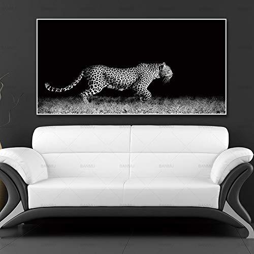 ganlanshu Tier Tiger Kunst Poster Leinwand Malerei Wanddekoration Eule Leopard Gorilla Kunst Bild,Rahmenlose Malerei-30X60cm