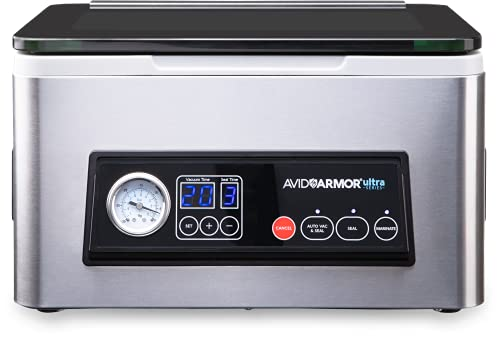 Avid Armor Chamber Vacuum Sealer Model USV20 Ultra Series, Compact Size Perfect for Liquid-Rich Wet Foods Fresh Meats,...