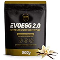 Proteína de Huevo de HSN Evoegg 2.0 | 100% Albúmina de Huevo en Polvo - Egg Protein | Para personas intolerantes a la lactosa y ovo-lactovegetarianos | Sin Gluten, Sin Lactosa, Sabor Vainilla, 500g