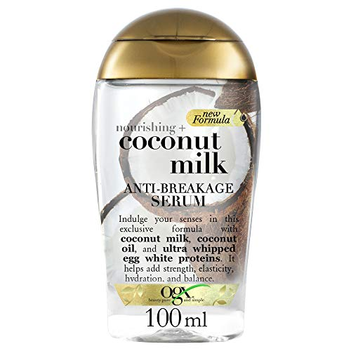 OGX Leche de Coco, serúm, cabello quebradizo, protección aromática - 100 ml