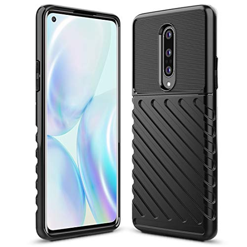 Sucnakp Oneplus 8 Case 1+8 Case One Plus 8 Case Shock Absorption Anti Scratch Heavy Duty Durable Drop Protection Cell Phone Cover for Oneplus 8,NOT Fit OnePlus 8 from Verizon(LT Black)