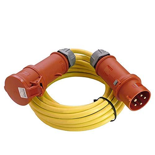 as - Schwabe CEE-Verlängerung – CEE-Stecker & CEE-Kupplung (400 V / 16 A) – 25 m CEE-Verlängerung 5-polig mit Leitung K35 AT-N07V3V3-F 5G1,5 – IP44 – Made in Germany – Gelb I 60715