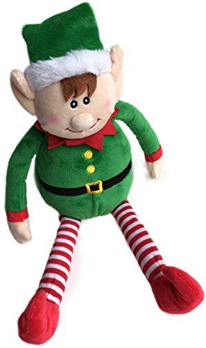 Checkered Fun Christmas Elf Plush Stuffed Toy - Christmas Toy- Cute Xmas Elves For Kids