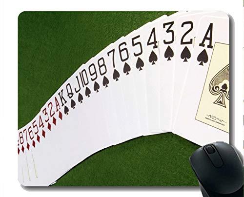 Gaming Mouse Mat, Spielkarte Gummi-Mousepad genähte Border
