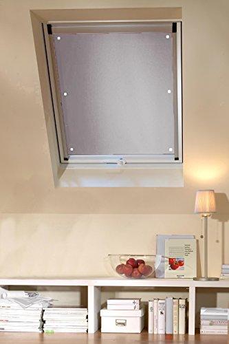 Clothink 38x75cm Thermo Sonnenschutz für Dachfenster | Hitzeschutz für Innen | ohne Bohren ohne kleben mit 6 stabil Saugnäpfe | große Auswahl für Velux + Roto Fenster | 1Stück beige