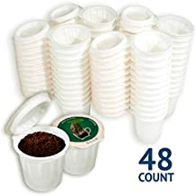 iFillCup, fill your own Single Serve Pods. Eco friendly 100% recyclable pods for use in all k cup brewers including 1.0 & 2.0 Keurig. 48 iFill Cup airtight seal in freshness pods. (Green)