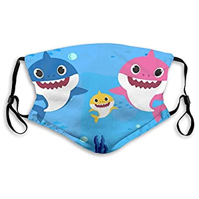 HOTBABYS Baby Shark Reusable Activated Carbon Filter Face Covering with Replaceable Filter for Men Women Medium