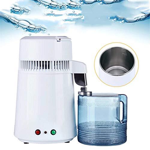 WQY 4L Home Reinwasserdestillierfilter Wasserdestillierte Maschine Zahndestillationsreiniger Ausrüstung Edelstahl Kunststoffkrug