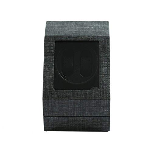 LLSS Automatic Watch Winder Box Double, Wooden Black 2+3 for 2 Watches Cases Watches Boxes Winders Display Storage