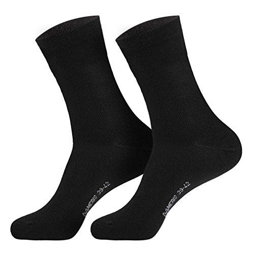 6 Paar Damen Socken schwarz 35-38