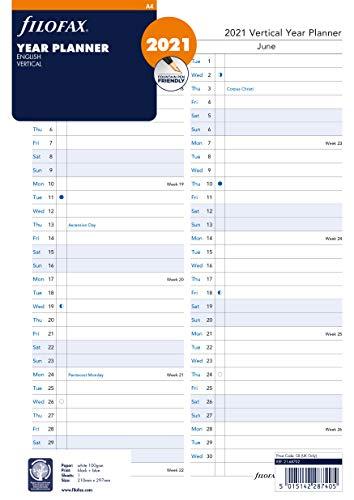 Filofax Kalendereinlage A4 Jahresplaner (mehrsprachig)2021