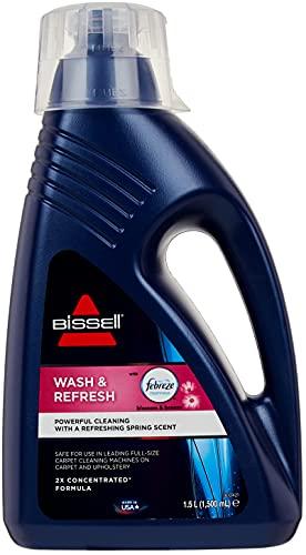 Bissell 1078N Wash&Refresh Febreze Reinigungsmittel für alle Teppichreiniger/Waschsauger, 1 x 1,5 Liter