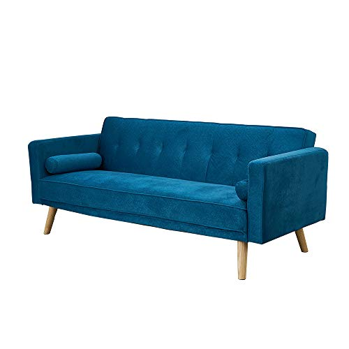 Panana Modern 3 Seater Sofa Bed Faux Suede Fabric Sofa Couch Settee Click Clack Recliner Sleeper with 2...