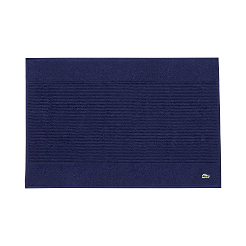 """Lacoste Legend Towel, 100% Supima Cotton Loops, 650 GSM, 21""""x31"""" Tubmat, Navy"""