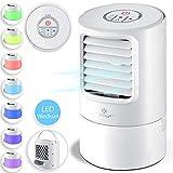KESSER® 4in1 Mobile Klimaanlage Mini Klimagerät mit 7 Farben LED Farben   Ventilator   Wassertank...