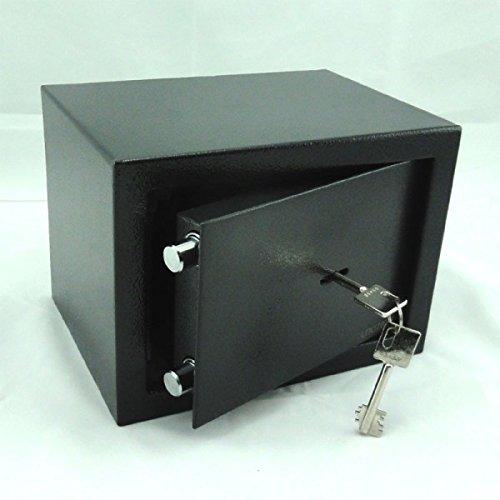 Tresor Safe Möbeltresor - Doppelbart-Schlüssel - ca. 6 l - anthrazit