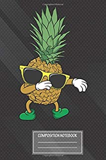 Notebook: Aloha Beaches Hawaii Dabbing Pineapple Sunglasses Notebook, Journal for Writing, Size 6