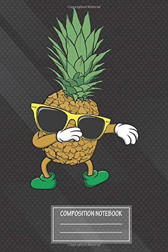 Notebook: Aloha Beaches Hawaii Dabbing Pineapple Sunglasses Notebook, Journal for Writing, Size 6' x 9', 164 Pages