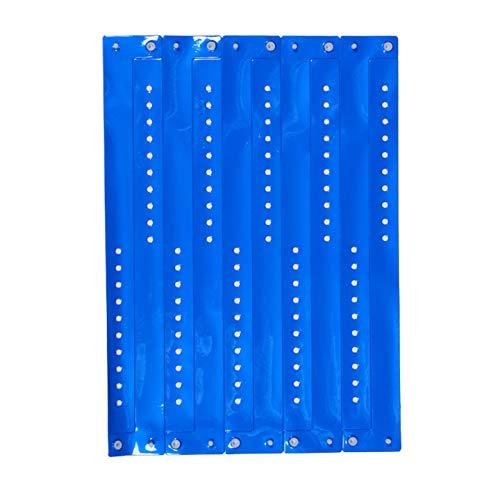 ClubKing Ltd Armbänder, aus Vinyl, Neonblau, 50 Stück