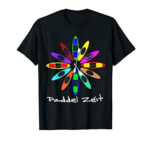 Kanu, Kajak, Kanadier und Paddeln, Paddel Zeit Shirt. T-Shirt