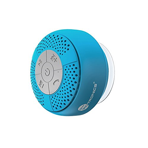 TaoTronics Bluetooth Speaker Wireless Waterproof Shower with Suction Cup, Stereo A2DP, IPX4, up to 6 Playback Hours for Beach, Shower, Travel and more