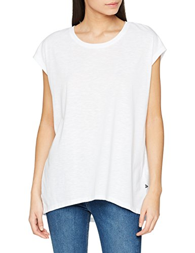 NOISY MAY Damen NMMATHILDE S/S LOOSE LONG TOP NOOS T-Shirt, Weiß (Bright White Bright White), 38 (Herstellergröße: M)