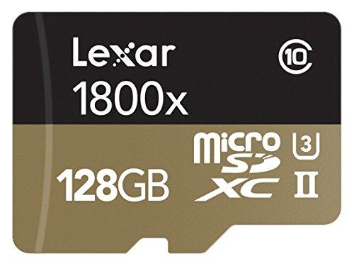 Lexar Professional 1800x Scheda MicroSDXC, 128 GB, UHS-II con Adattatore USB 3.0 e SD