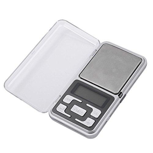 Merssavo Mini Digitalwaage 200g/0.01 g Schmuck Gewicht Gramm Werkzeug LCD-Display für das Wiegen Edelsteine Schmuck