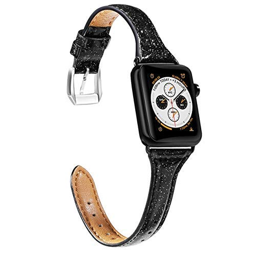 KTZAJO 2021 La última correa para Apple Watch Band 42mm 38mm hebilla de metal de cuero genuino para iWatch 5 4 3 2 1 correa de repuesto correa de reloj 40mm 44mm - rosa - 38mm o 40mm