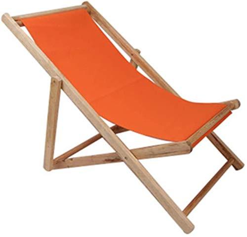 Sillas plegables portátiles ultraligeros, Hamaca de madera maciza, madera ajustable Hamaca Beach Garden, plegable Tumbona tradicional, for Seat recorrido de la playa al aire libre, 3 ( Color : A )