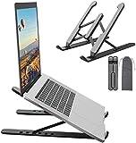 Support Ordinateur Portable,Laptop Stand,Support PC Portable à 6 Niveaux Réglables, Refroidissement RéGlable Et Repliable Compatible avec MacBook Air,iPad,Tablettes Portables 13-20 Pouces,Noir