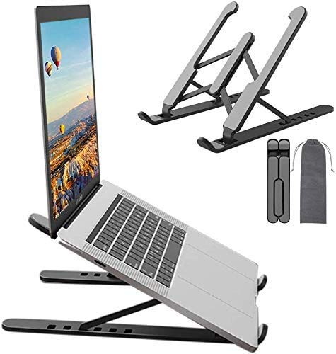 """Soporte Portátil Mesa 6 Ángulos Ajustables, Plegable Ventilado Soporte Ordenador Portátil, Soporte para Laptop Adjustable de Múltiples Ángulos,para Laptops/Tabletas 13-20"""" Portatiles"""