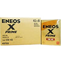 【6缶セット】 ENEOS X PRIME (エックスプライム) エンジンオイル 5W-40 SN C3 (100%化学合成油) 4L×6缶(1ケース)