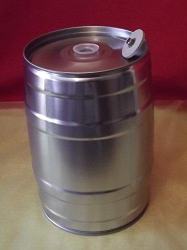 Nahrungsmittel-selbermachen 5 Liter Bierfass inkl. Ventilstopfen, Partyfass ohne Aufdruck für Ihr selbstgebrautes Bier