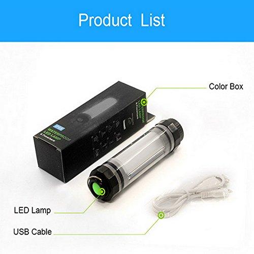 Lovinstar 2600 mAh magnétique étanche lampe LED Lumières banque d'alimentation d'urgence Camping lumières