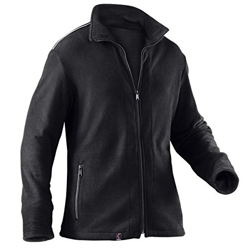 KÜBLER Workwear KÜBLER Safety X Fleecejacke schwarz, Größe M, Unisize-Fleecejacke aus Mischgewebe, antistatische Fleecejacke