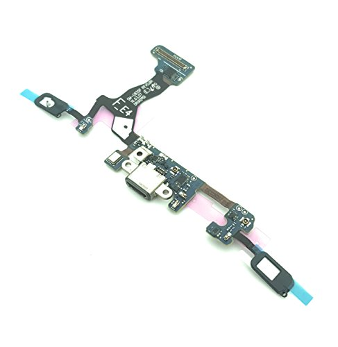 enoaFIX Dock Connector kompatibel mit Samsung Galaxy S7 Edge G935F Ladebuchse Micro USB Flexkabel mit Mikrofon und Home Button Kontakt