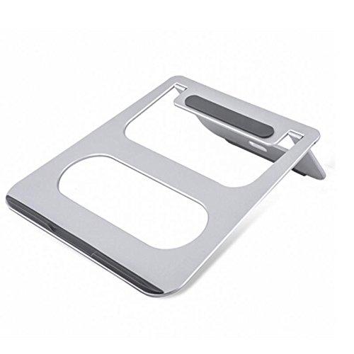 Tutoy Cooskin Universal Folding Laptop Stand Aluminum Alloy Cooling Adjustable Desk Stand Pc Tablet Holder - Silver