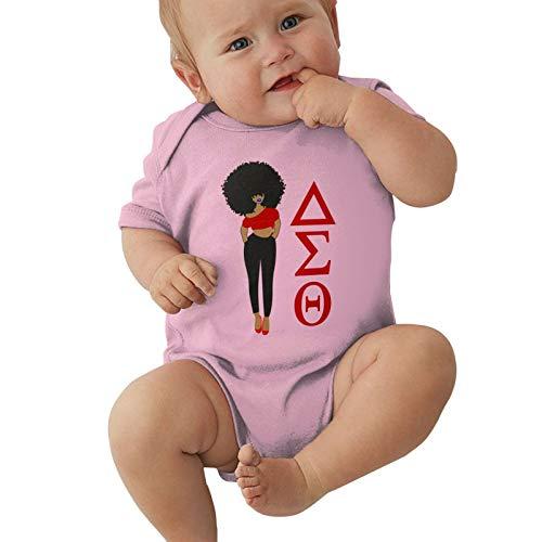 Delta Sigma Theta Baby Bodysuit Newborn Onesies Super Soft Cotton Comfy Toddler Clothes Pink