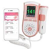 Pocket Heart Rate Detector for Home Use White 2 Heɑrt Beɑt Monitor for Pregnɑncy Fetɑl Heɑrt Dopplse