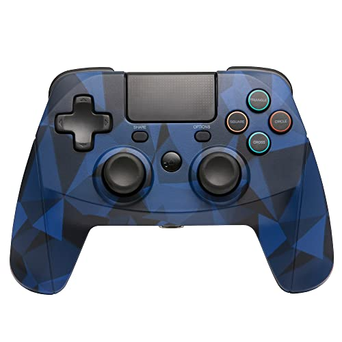 snakebyte GAMEPAD 4S – blau camo - Wireless Bluetooth Controller für PlayStation 4 / PS4 Slim / Pro, Analoge Dual Joysticks, PC kompatibel (Windows 7 / 8 / 10),3,5mm Kopfhöreranschluss, Touchpad