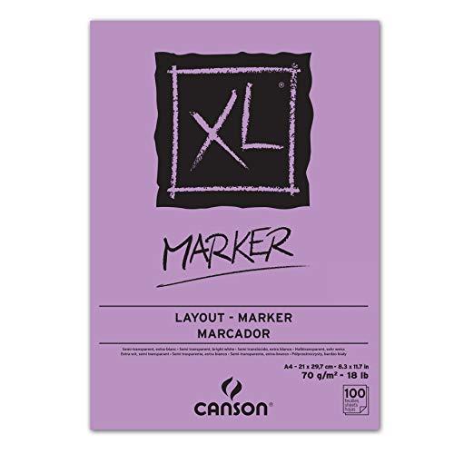 Blocco ini carta collata XL Marker Canson - collato lato corto - A4-100 - 200297236