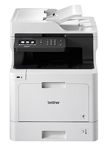 Brother DCP-L8410CDW Professionelles 3-in-1 Farblaser-Multifunktionsgerät (31 Seiten/Min., Drucker, Scanner, Kopierer) weiß/schwarz