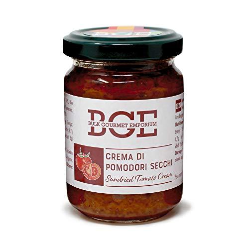 Bulk Gourmet Emporium - Crema de tomates secos en frascos de vidrio, 3 x 130 g (390 g en total)
