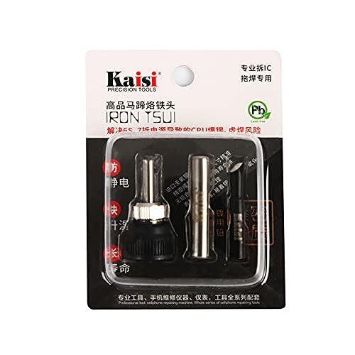 Juego de Herramientas KAISI 3 en 1 Reparación de CPU PCB Puntas Cautín Sin Plomo Microsoldadura