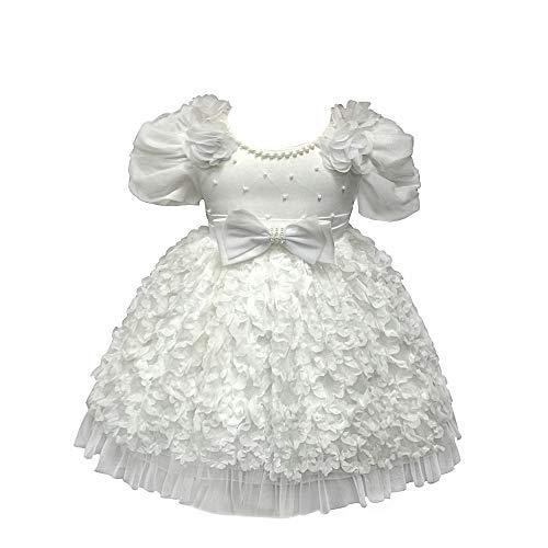 XFentech Ballkleid - Mädchen Bowknot Schönheit Prinzessin Märchenkleider Schick Kleid Kinderkostüme,Beige,18M(13-18 Monate)