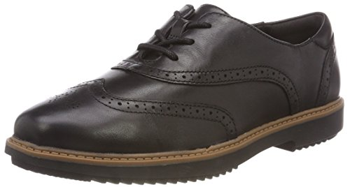 Clarks Raisie Hilde Womens Wide Fit Brogues 3,5 D (m) UK/36 EU Schwarz