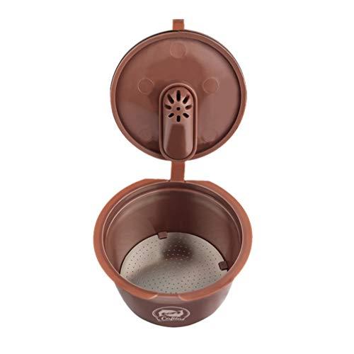 UPKOCH Wiederverwendbarer Filter Kaffee Kapsel Shell Mesh Tee Sojabohnen-Sieb Entsafter Zubehör Braun 100 ml 100 ml braun